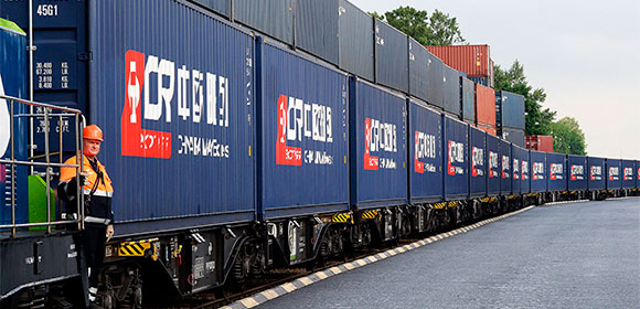 Freight trail from Italy to China
